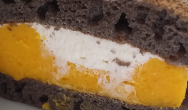 かぼちゃどらホイップクリーム部分